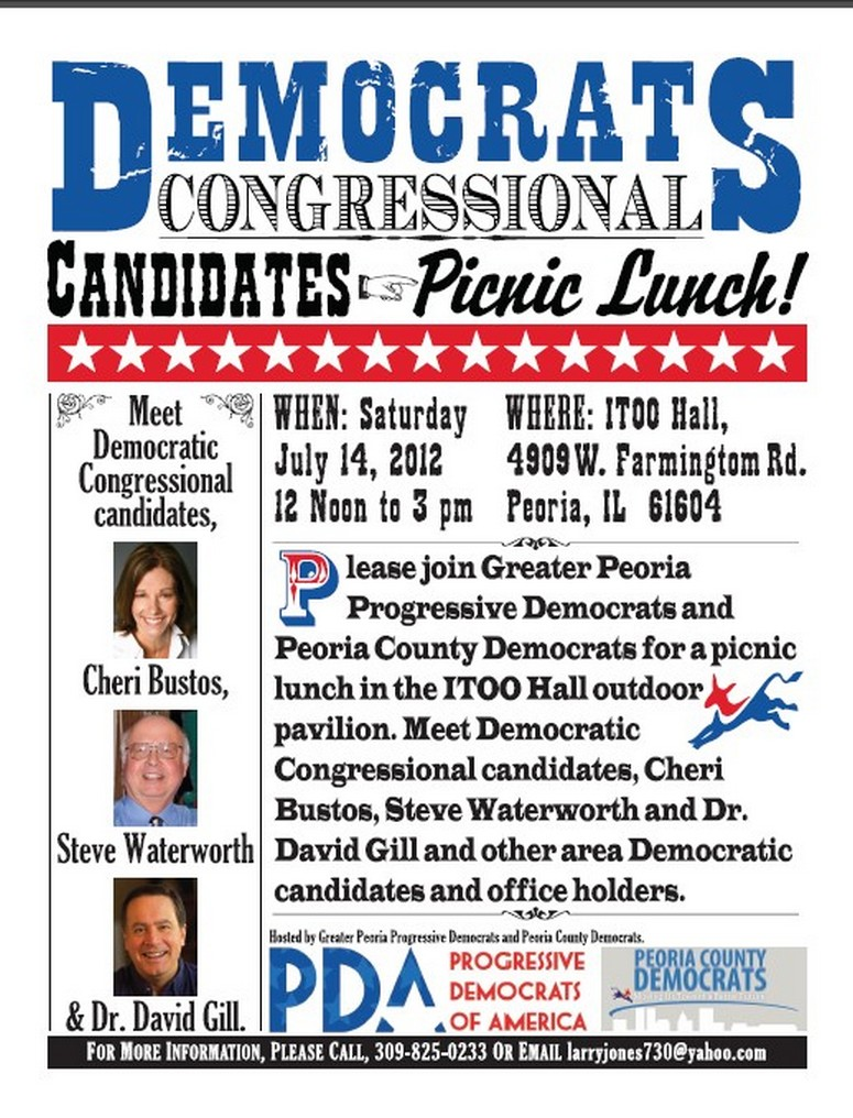 GPPDA Peoria Dems 7.14.picnic lunch flyer