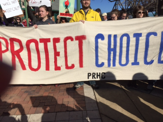 Jan 21 rally choice sign
